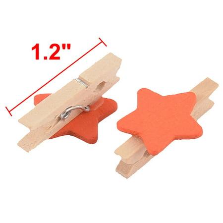 Porte Carte en Forme étoile Printemps Photo minuscules Chevilles en Bois 20pcs Mini Clip - image 1 de 2