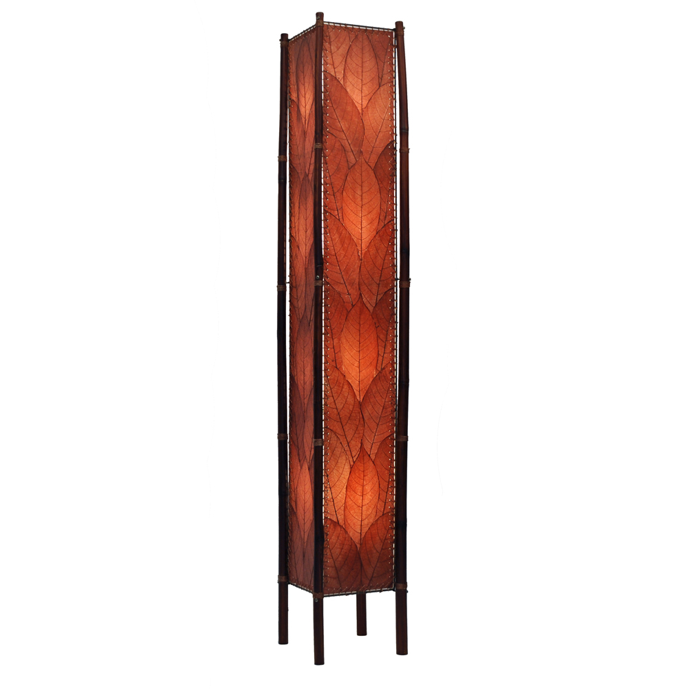 Attirant Eangee Home Design Fossilized Cocoa Leaves Fortune Burgundy Color XL Floor  Lamp
