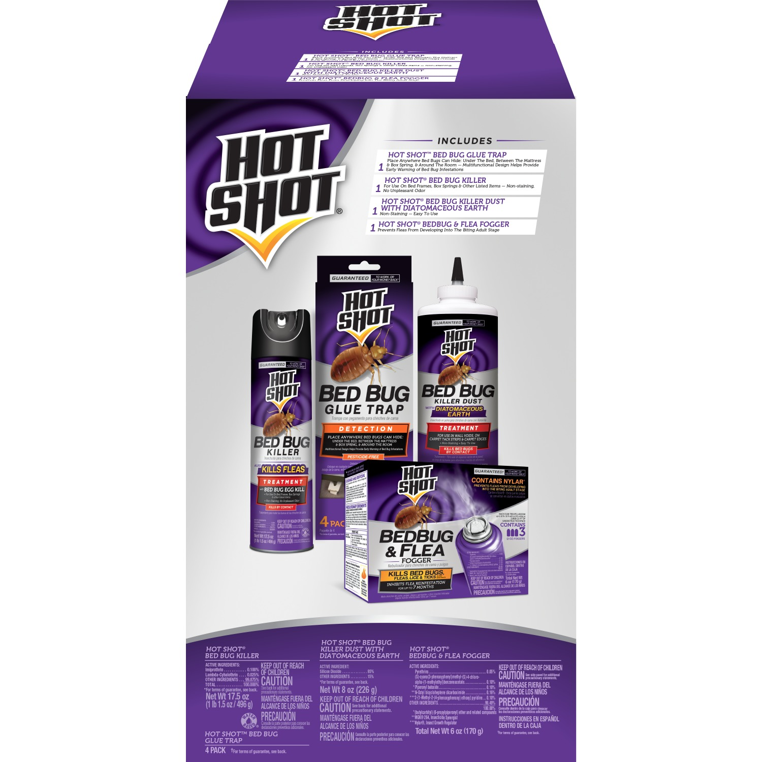 Hot Shot Bed Bug Treatment Kit Walmart Com