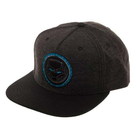 Black Panther - Black Panther Logo Black Snapback Hat - Walmart.com dd57cea060a