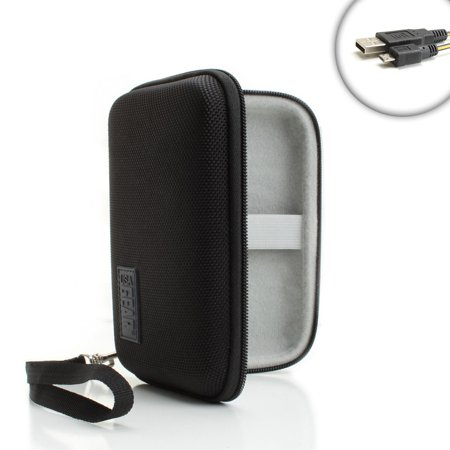 USA Gear Fitness Band / Smartwatch Travel Carrying Case - Fits Pebble Time , Xiaomi Mi Band 2 , Fitbit Flex 2 , Alta , Blaze , Apple Watch & More - Fits Watch & Charger Cable & Accessories ()