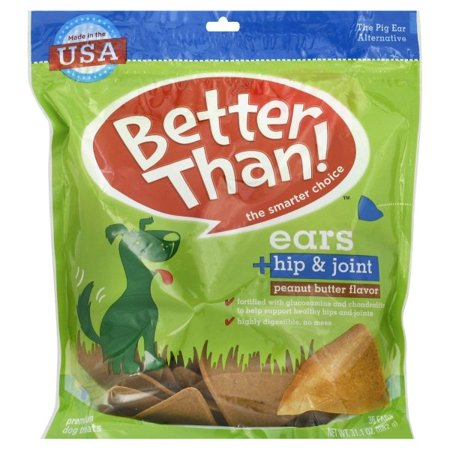 Better Than Ears Peanut Butter Flavor Dog Treats, 31.1oz (Peanut Butter Dog Biscuit Recipe With Oatmeal)
