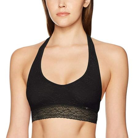 Calvin Klein Women's Bare Lace Bralette (Black, XS) Lace Bralette By Honeydew