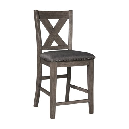 Signature Design by Ashley Caitbrook 25 in. Cross Back Counter Stool - Set of 2 ()