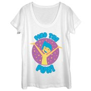 Inside Out Women's Joy Find Fun Scoop Neck T-Shirt