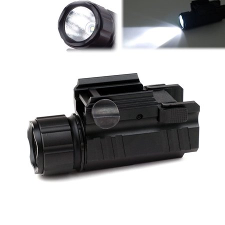 Mini 200 Lumen Tactical Flashlight Strobe Light with Picatinny Rail Quick Release