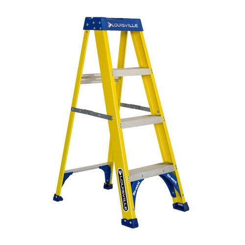 Louisville Ladder FS2004 4 ft. Fiberglass Step Ladder, Type I, 250 lbs. Load Capacity