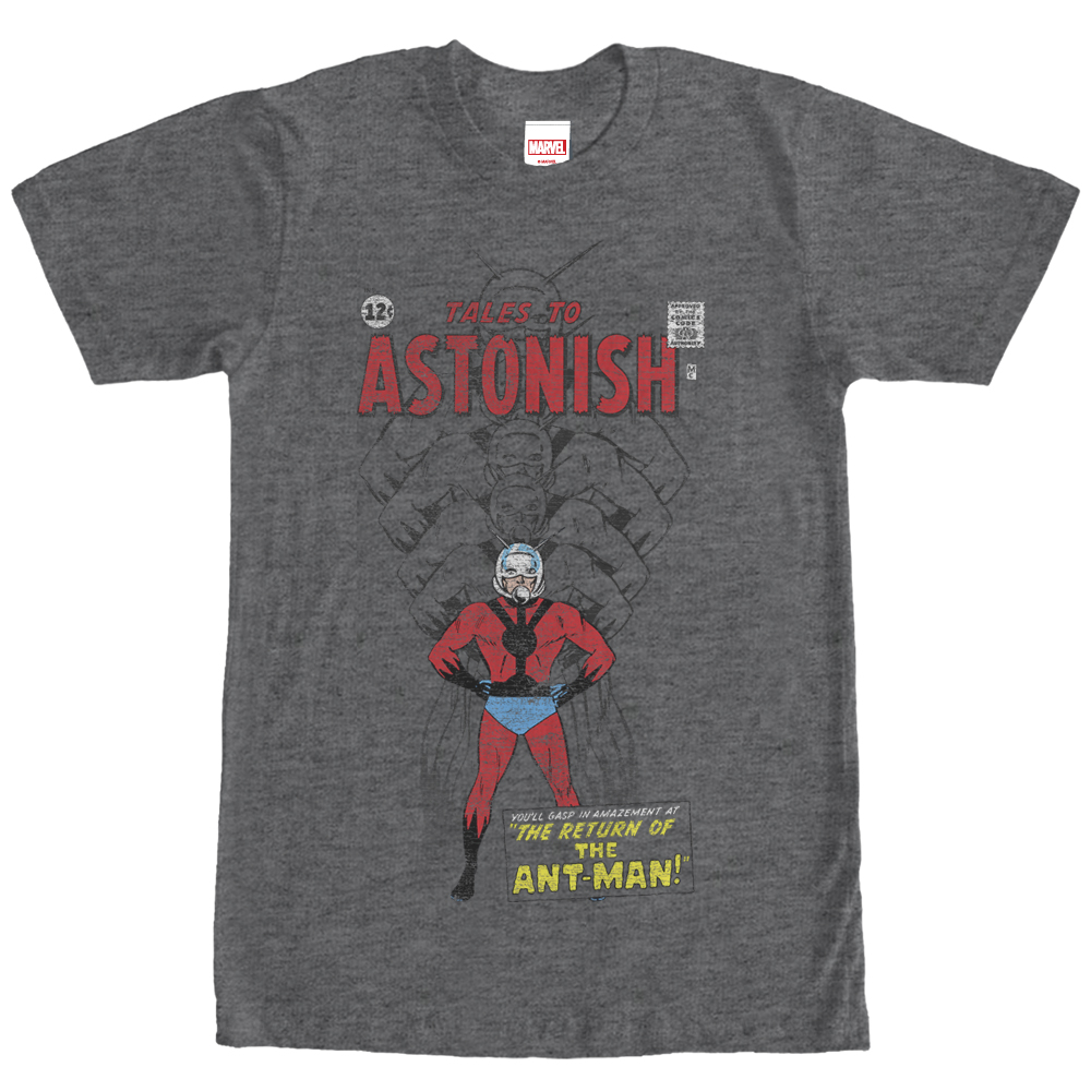 Marvel Men's Ant-Man Shrinking Tales to Astonish T-Shirt