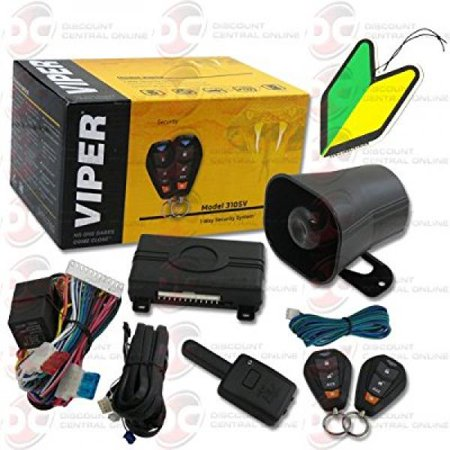 2013 Viper 1 Way Car Alarm Security System With Keyless Entry With Squash Air Fresheners