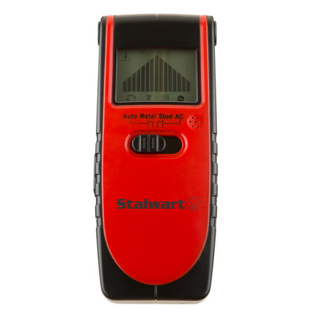 Stalwart 3-In-1 Metal, Live Wire and Stud Detector Stud Finder with LCD Screen and Battery Included ()