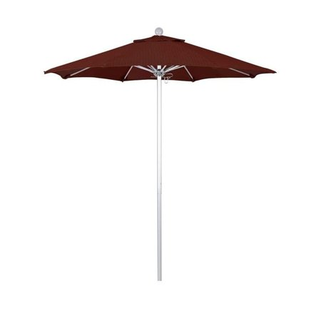 Magnolia Garden 7.5' Push Lift Aluminum/Fiberglass Umbrella with Olefin Fabric - Terrace Adobe