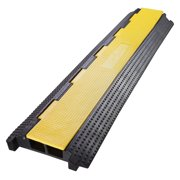 Yescom 2 Channel Rubber Electrical Wire Cable Cover Ramp Guard Warehouse Cord  Protector