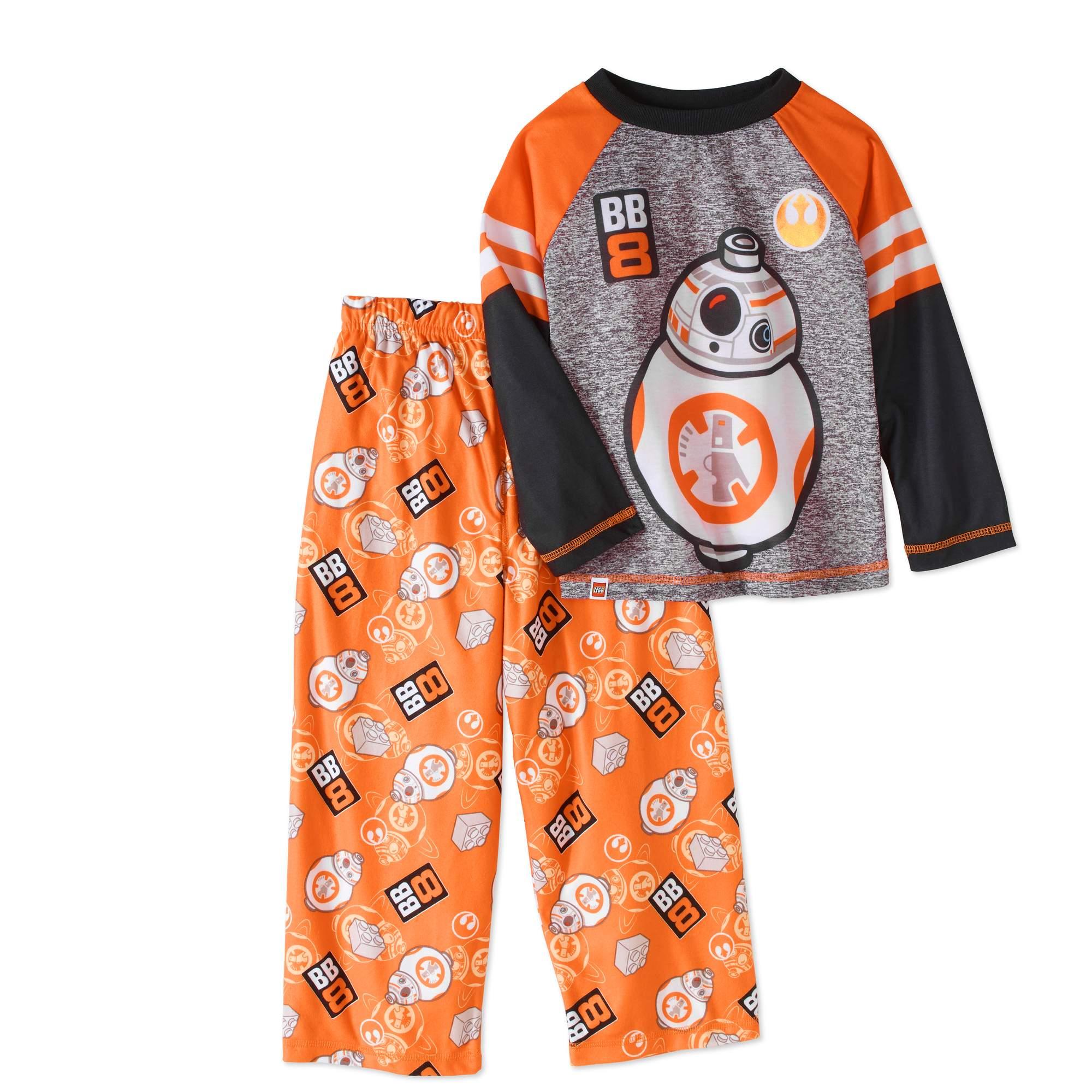 LEGO Star Wars Boys' Jersey Top and Fleece Pants Pajama 2 - Piece Sleepwear Set