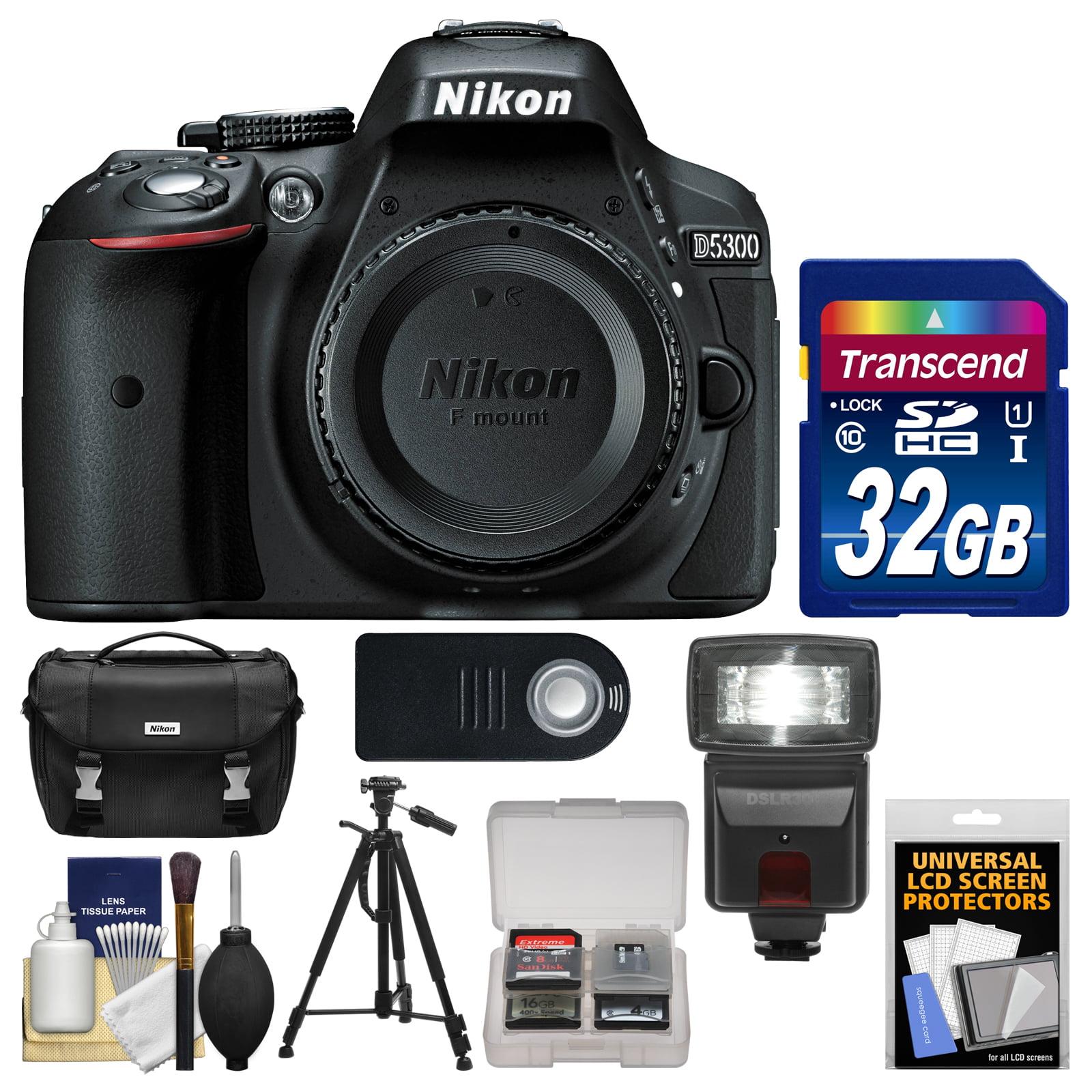 Nikon D5300 Digital SLR Camera Body (Black) With 32GB Car...