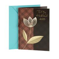 Product Image Hallmark Birthday Greeting Card To Husband Plaid With Flower