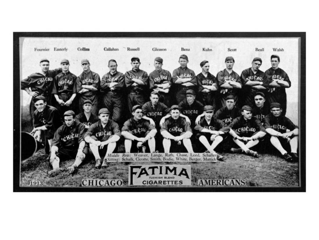 Chicago Il Chicago White Sox Team Photograph Baseball Card Laminated Print By Lantern Press