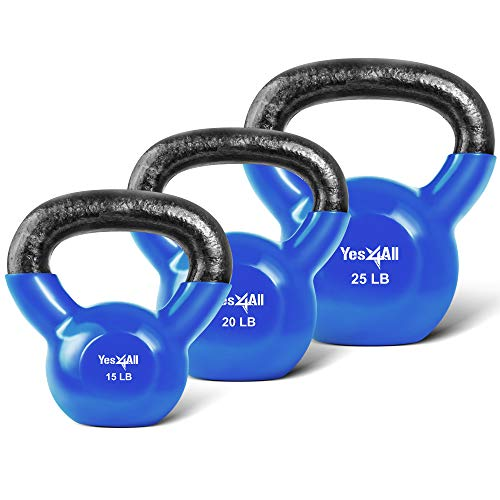 Details about  /Yes4All Vinyl Coated 40LB Kettlebell Blue New In Hand Ships Fast