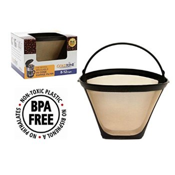 goldtone brand reusile #4 cone replaces your ninja coffee filter for ...