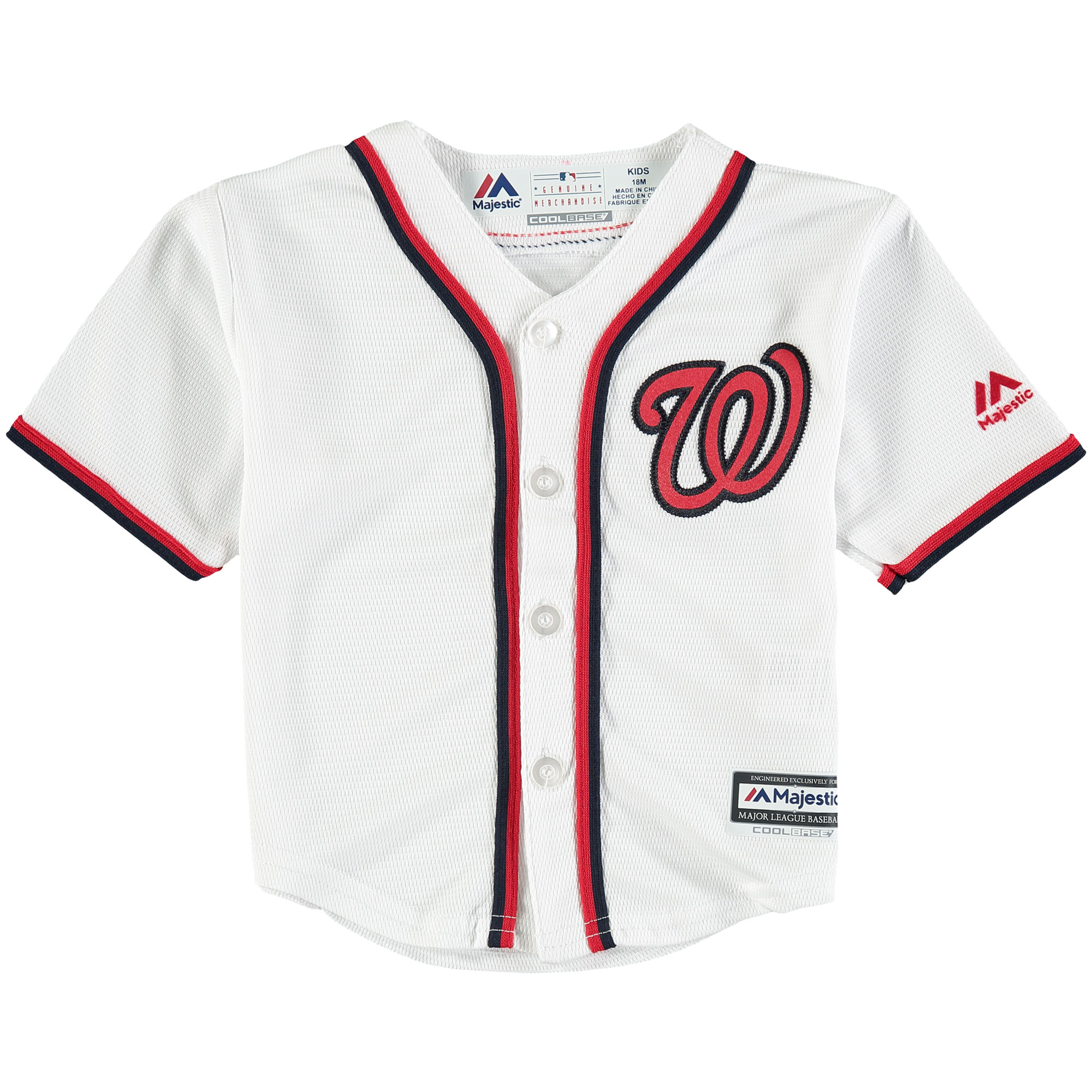 Washington Nationals Newborn & Infant Official Cool Base Jersey - White