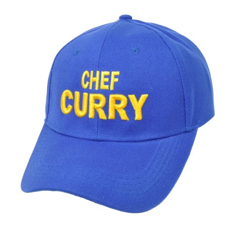 NBA Golden State Warriors Chef Curry  Blue Adjustable Hat Cap Curved Bill