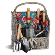 Picnic Plus Countryside 9 Piece Garden Basket - Madeline Turquoise