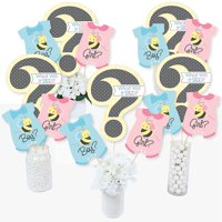 What Will It BEE? - Gender Reveal Centerpiece Sticks - Table Toppers - Set of 15