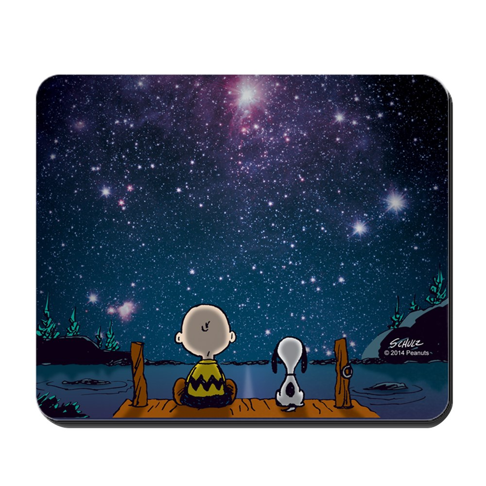 CafePress - Spaced Out Peanuts - Non-slip Rubber Mousepad, Gaming Mouse Pad
