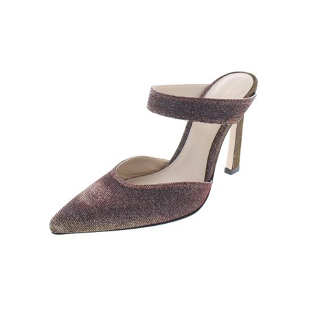 Stuart Weitzman Womens Eventually Metallic Slides Dress Heels