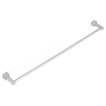 M.way Aluminum Bathroom Double Towel Bar Rail Rack Holder 2 Bar Hanger Wall Mount Shelf (Aluminum Double Towel Bar)