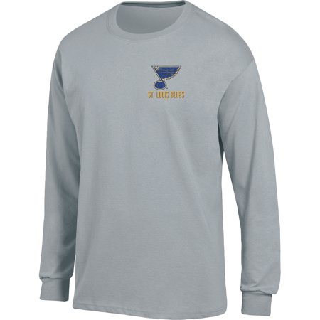 Men's Heathered Gray St. Louis Blues Back Hit Long Sleeve T-Shirt