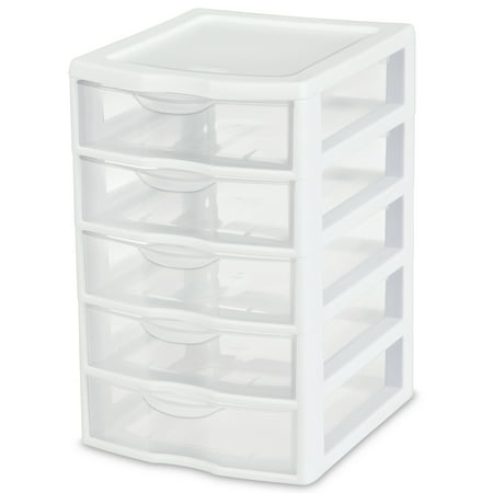 Sterilite Small 5-Drawer Unit, White ()
