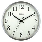 """La Crosse Technology Wt-3126b 12"""" Stainless Steel Atomic Wall Clock"""