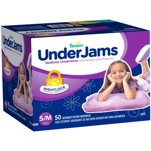 Pampers UnderJams Bedtime Underwear Girls (Choose Size and Count)