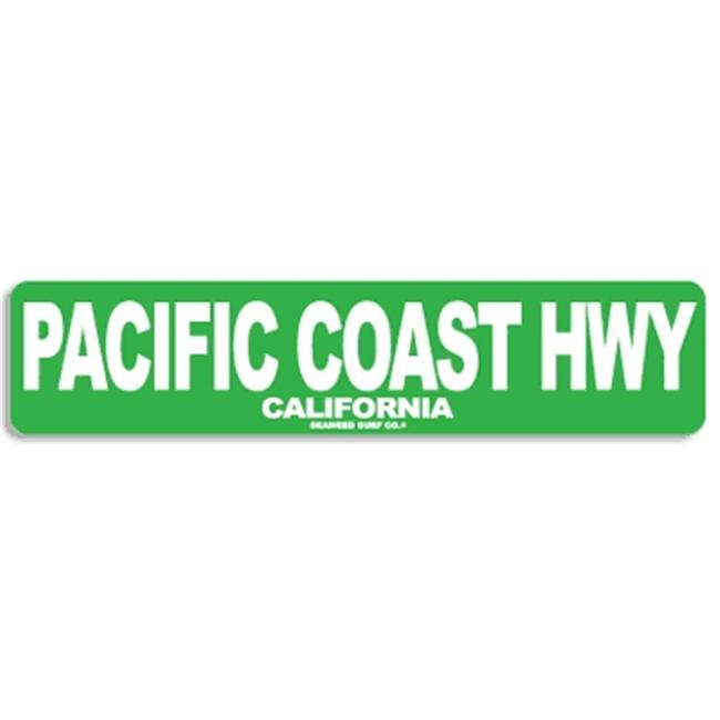 Seaweed Surf Co AA64 4X18 Aluminum Sign Pacific Coast Hwy