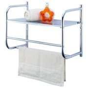 Simple Spaces BR32-CH Wall Rack, Metal, Chrome