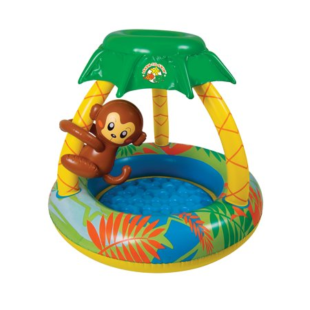 Poolmaster Go Bananas Monkey Inflatable Kiddie Pool