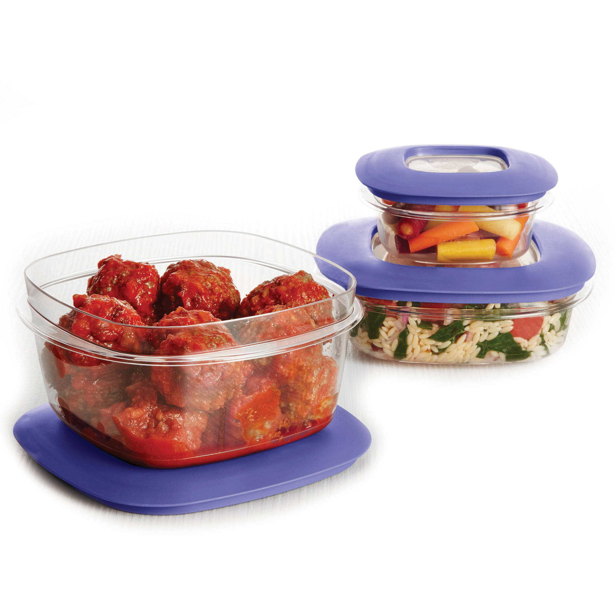 Newell Brands Rubbermaid Premier Food Storage Container, 6 - Piece Set, Iris