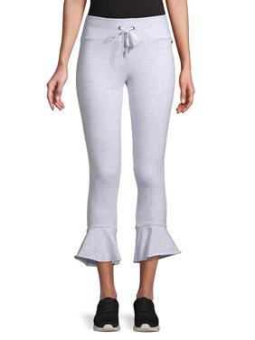 98318223fa8 Product Image Slim-Fit Ruffle-Hem Terry Pants. Betsey Johnson