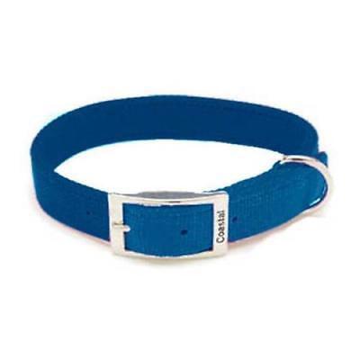 Double Ply Nylon Collar (Coastal Pet Products Double Ply Blue Nylon Collar, 26