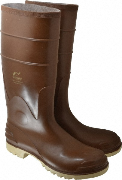 Onguard Industries Size 10 Polymax Ultra Brown 16'' PVC Knee Boots With Ultragrip Sipe Outsole And Removable Insole