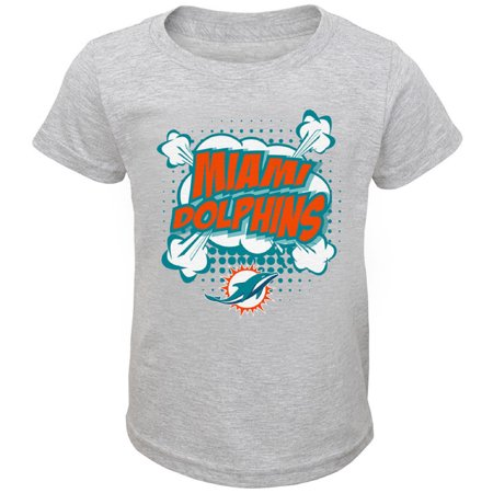 Toddler Heathered Gray Miami Dolphins Crew Neck - Miami Dolphins Cups