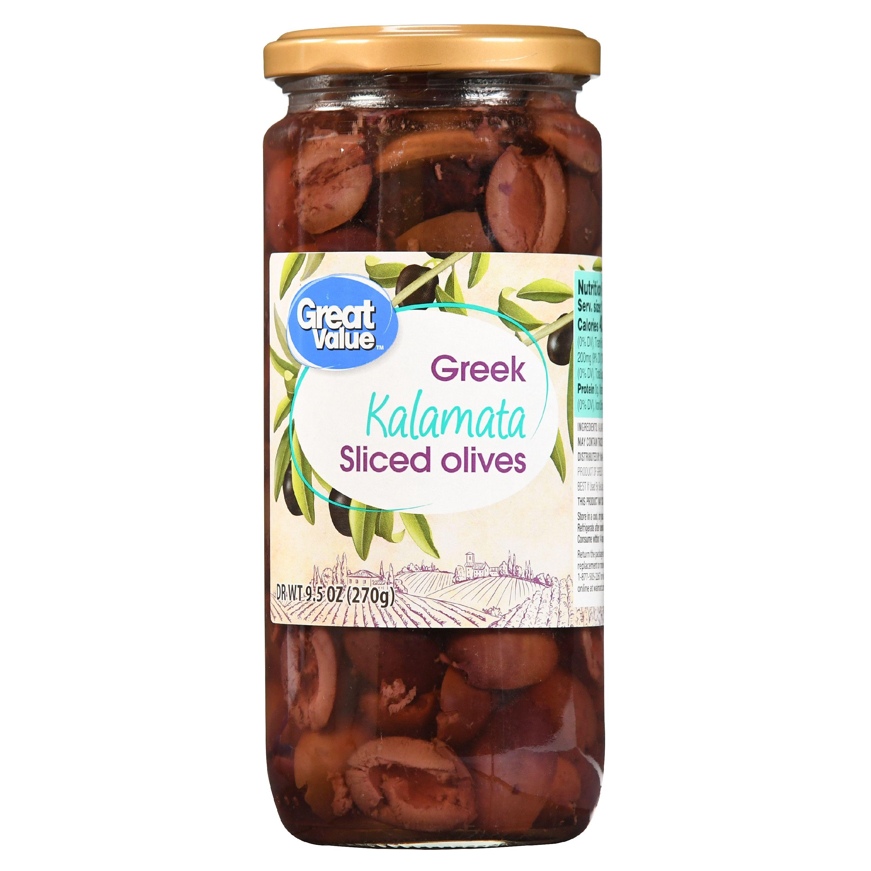 Great Value Sliced Greek Kalamata Olives, 9.5 oz