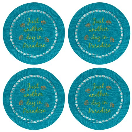 Island Time Just Another Day in Paradise Indoor Outdoor Placemats Set of -
