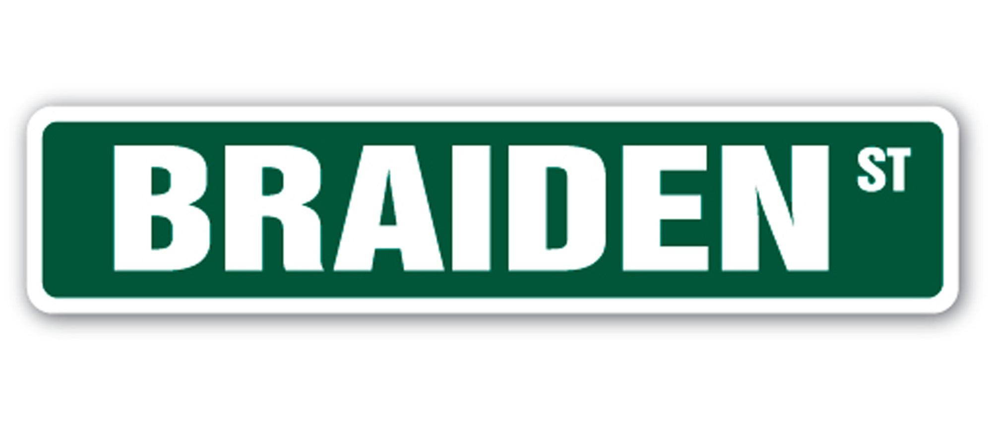 "18/"" Wide Indoor//Outdoor NADIA Street Sign Childrens Name Room Sign"