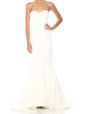 32348df27 Product Image Ivory Women Sweetheart Silk Faille Gown 6