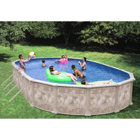 Heritage oval 30 39 x 15 39 x 52 39 39 above ground swimming pool with vinyl coated frame for Heritage above ground swimming pools