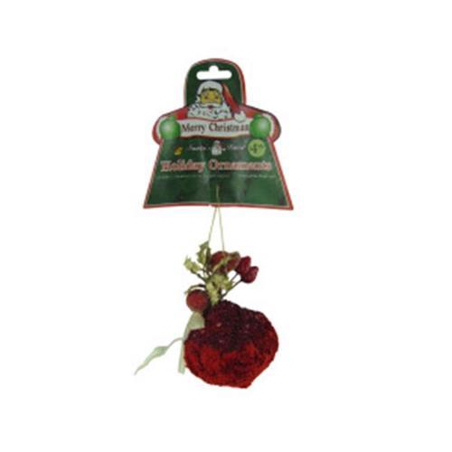 Bulk Buys Velvet ornament with gems  assorted styles Case Of 24