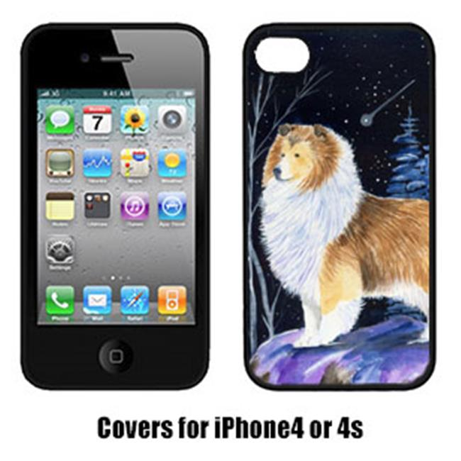 Carolines Treasures SS8368IP4 Starry Night Sheltie Cell Phone cover IPhone 4 - image 1 of 1