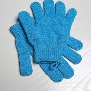 Topboutique 1 Pair Exfoliating Shower Bath Glove Scrubber Shower Dead Skin Cell Remover Body Spa Massage Sponge Gloves (pink)