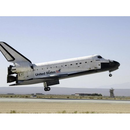 Space Shuttle Atlantis Prepares for Landing Print Wall Art